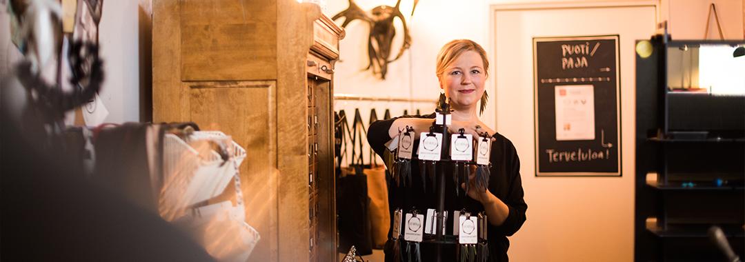 Ulla Metiäinen, sivutoiminen yrittäjä yrityksessä LeatherGo