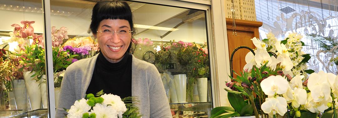 Leena Lantta, kukkakauppayrittäjä, Kukkapuoti Eveliina